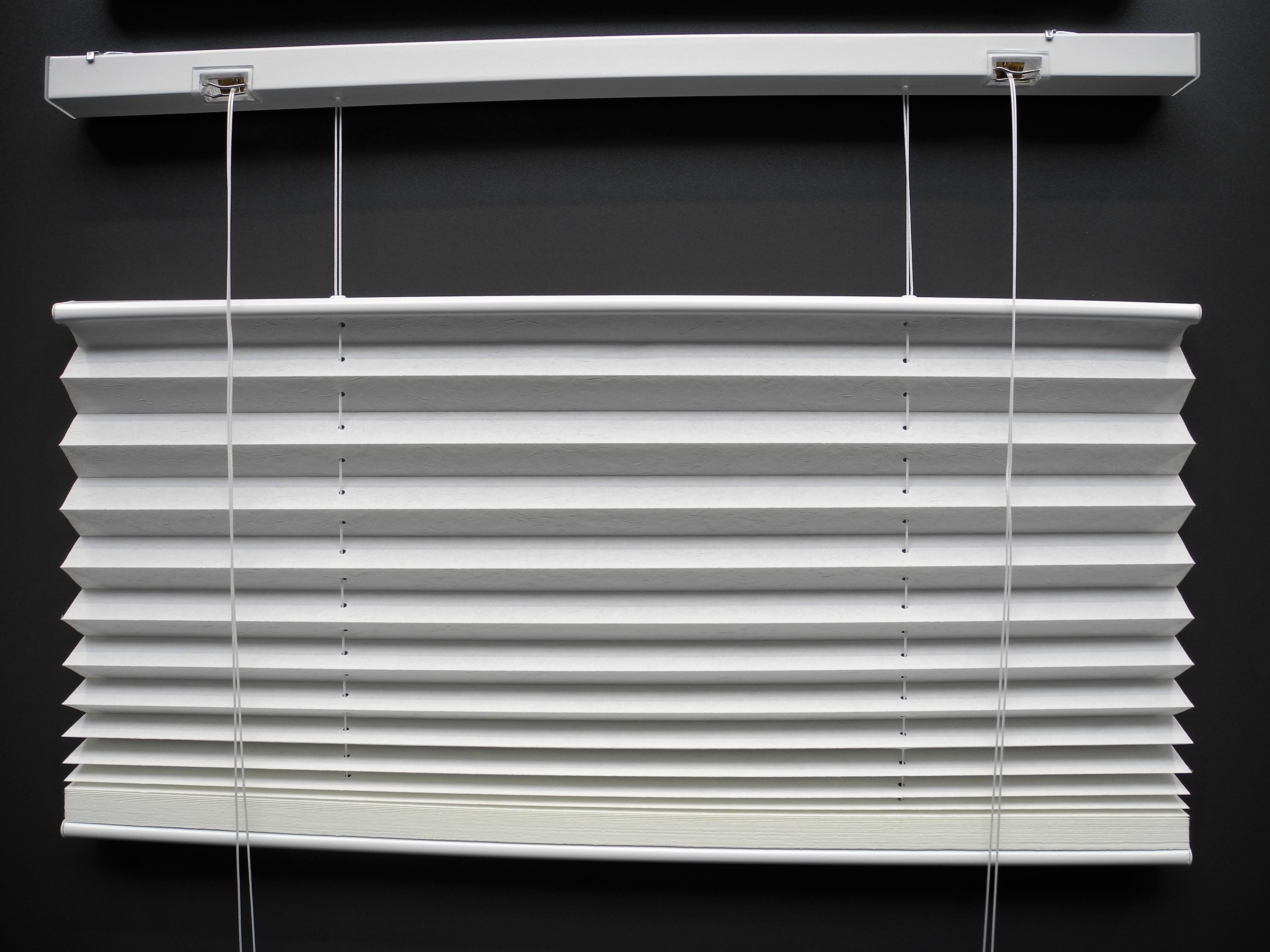 sun collection Plissee up down weiß geöffnet