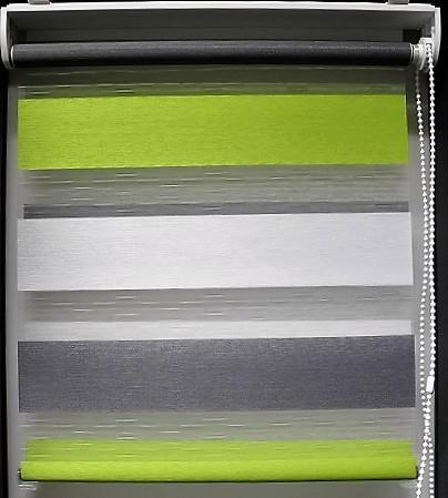 sun collection Doppelrollo drei farbig grün