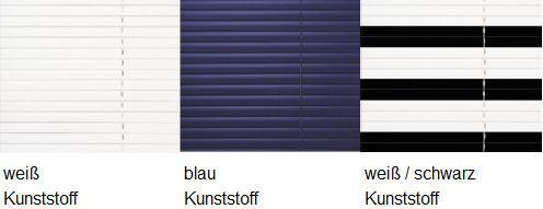 sun collection Jalousie Farbauswahl Kunststoff