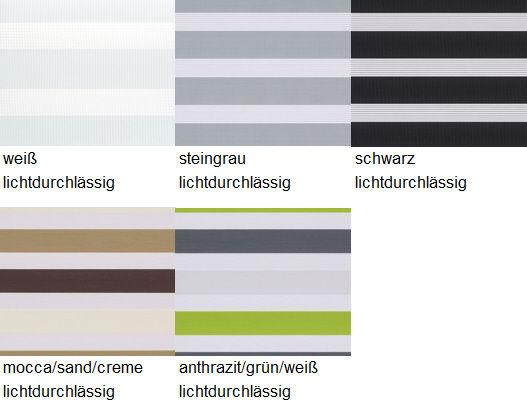 sun collection Doppelrollo Farbauswahl Trägerschiene