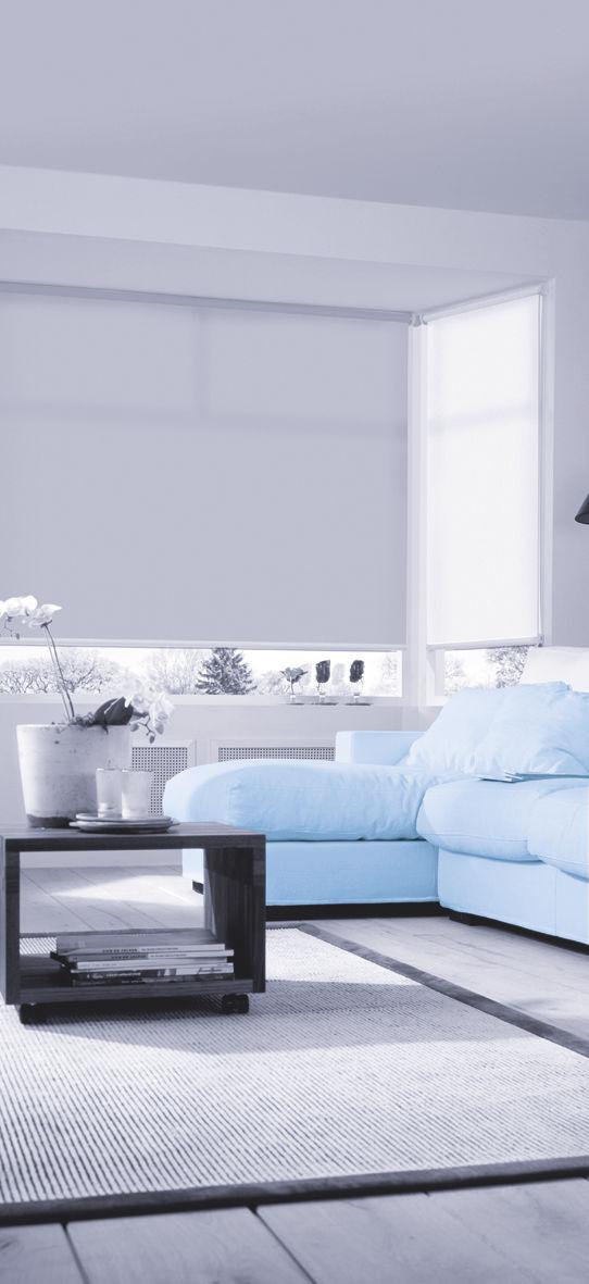 Perfekt ... Sun Collection Rollo Wohnzimmer Weiß